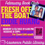 An image of the February book club flyer